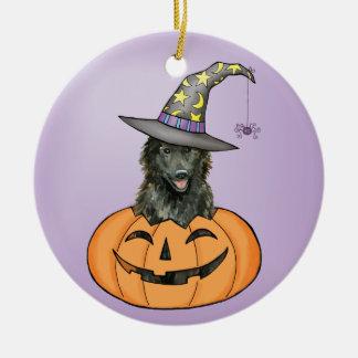 Belgian Sheepdog Halloween Christmas Ornament