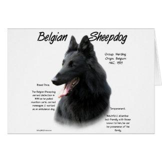 Belgian Sheepdog History Design Card