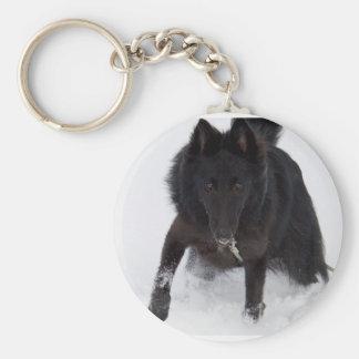 Belgian Sheepdog Keychain