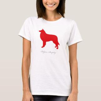 Belgian Sheepdog T-shirt (red silhouette)