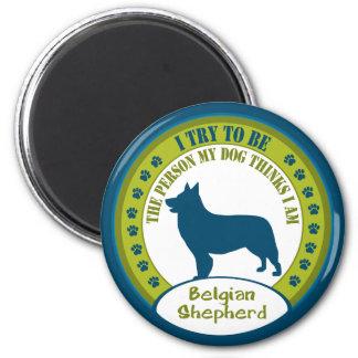 Belgian Shepherd 6 Cm Round Magnet
