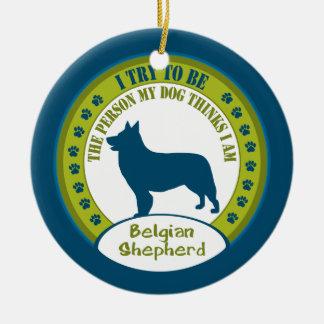 Belgian Shepherd Christmas Ornament