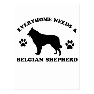 Belgian Shepherd dog breed designs Postcard