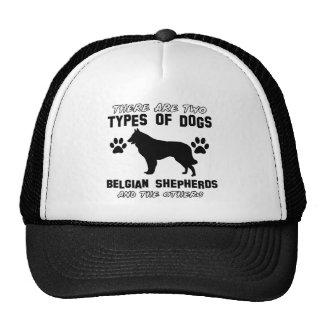 belgian shepherd gift items mesh hats