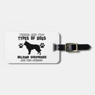 belgian shepherd gift items travel bag tag