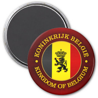 Belgian State Ensign 7.5 Cm Round Magnet