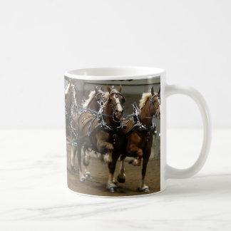 Belgian team in harness mug