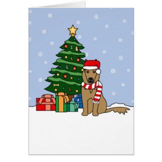 Belgian Tervuren and Christmas Tree Card