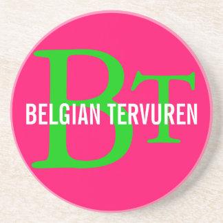 Belgian Tervuren Breed Monogram Drink Coasters