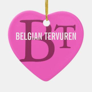 Belgian Tervuren Breed Monogram Ornaments