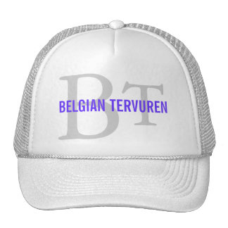 Belgian Tervuren Breed Monogram Trucker Hats