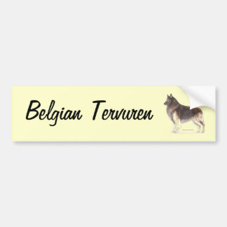 Belgian Tervuren Bumper Sticker