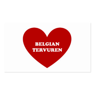 Belgian Tervuren Business Card Template