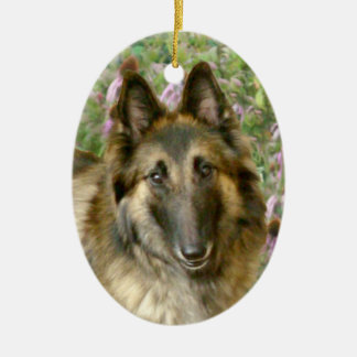 Belgian Tervuren Ceramic Oval Decoration