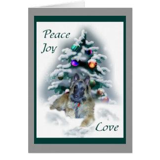 Belgian Tervuren Christmas Gifts Card