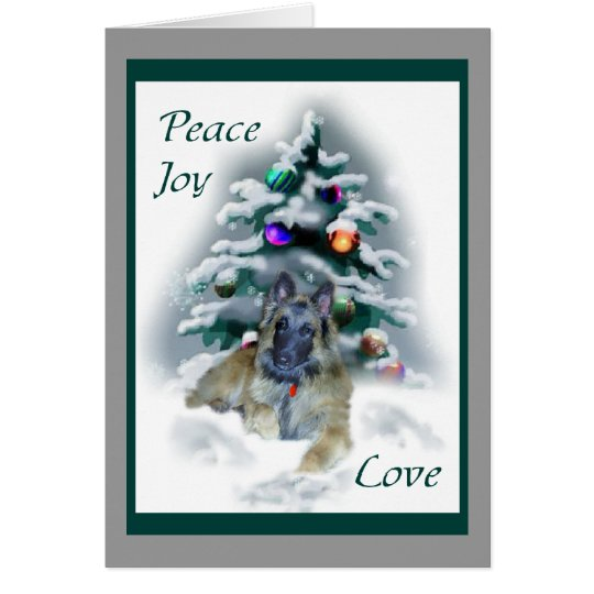 Belgian Tervuren Christmas Gifts Card
