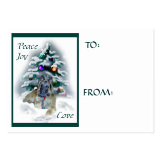Belgian Tervuren Christmas Gifts Name Tags Business Card Template