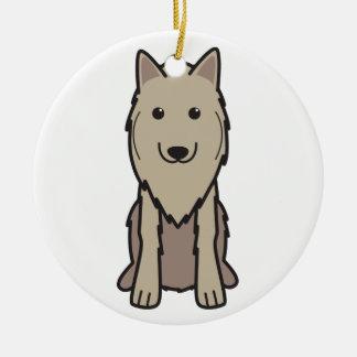 Belgian Tervuren Dog Cartoon Christmas Tree Ornament