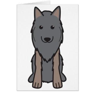 Belgian Tervuren Dog Cartoon Greeting Card