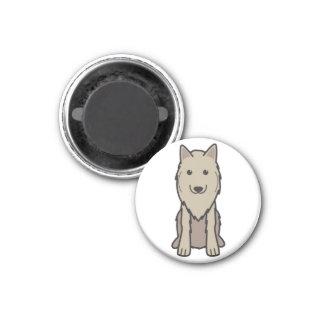 Belgian Tervuren Dog Cartoon Refrigerator Magnet