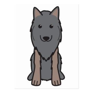 Belgian Tervuren Dog Cartoon Postcard