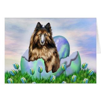Belgian Tervuren Easter Card