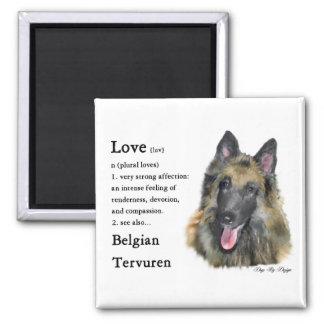 Belgian Tervuren Gifts Square Magnet