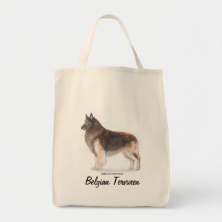 Belgian Tervuren Grocery Tote Bag