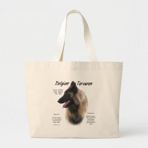 Belgian Tervuren History Design Canvas Bags