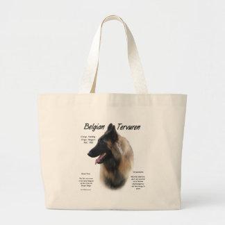 Belgian Tervuren History Design Jumbo Tote Bag