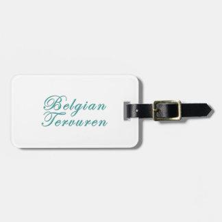 Belgian Tervuren Travel Bag Tag