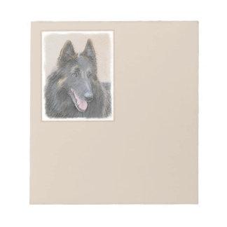 Belgian Tervuren Painting - Cute Original Dog Art Notepad