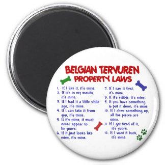 BELGIAN TERVUREN Property Laws 2 6 Cm Round Magnet