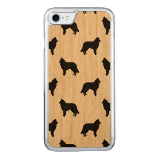 Belgian Tervuren Silhouettes Pattern Carved iPhone 8/7 Case