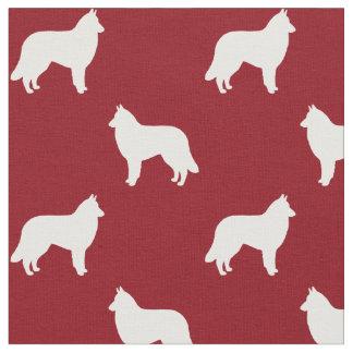 Belgian Tervuren Silhouettes Pattern Fabric
