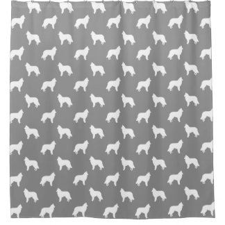 Belgian Tervuren Silhouettes Pattern Grey Shower Curtain