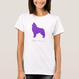 Belgian Tervuren T-shirt (purple silhouette)