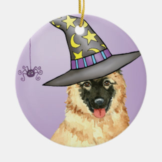 Belgian Tervuren Witch Round Ceramic Decoration
