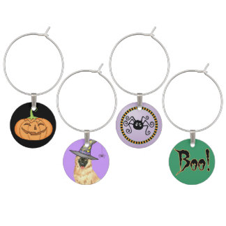 Belgian Tervuren Witch Wine Glass Charm