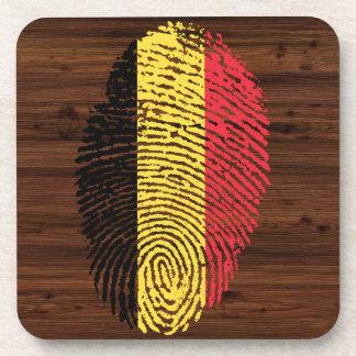 Belgian touch fingerprint flag beverage coasters