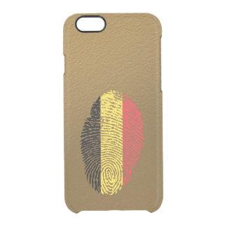 Belgian touch fingerprint flag clear iPhone 6/6S case