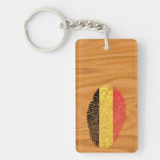 Belgian touch fingerprint flag Double-Sided rectangular acrylic key ring