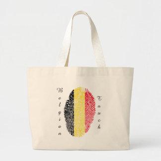 Belgian touch fingerprint flag jumbo tote bag