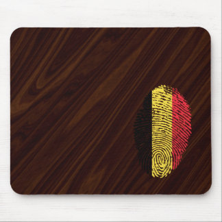 Belgian touch fingerprint flag mouse mat
