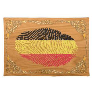 Belgian touch fingerprint flag placemat