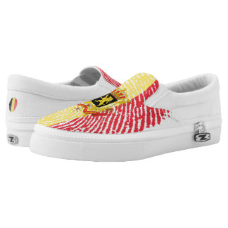 Belgian touch fingerprint flag Slip-On shoes