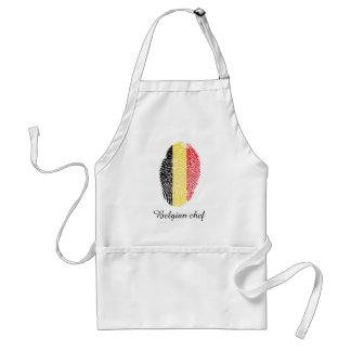 Belgian touch fingerprint flag standard apron