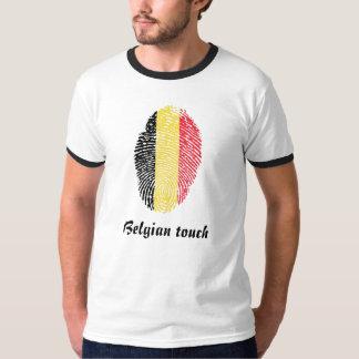 Belgian touch fingerprint flag t shirt
