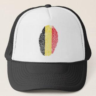 Belgian touch fingerprint flag trucker hat