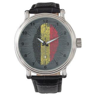 Belgian touch fingerprint flag wrist watch